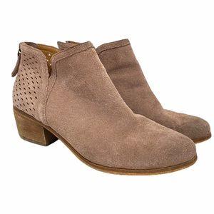 Susina Blakely Perforated Suede Bootie Sz 8 M